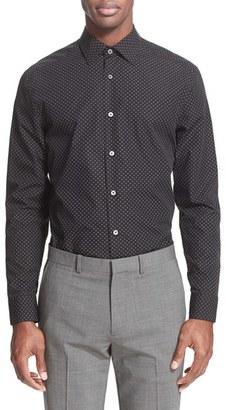 Men's Paul Smith London Trim Fit Micro Diamond Print Dress Shirt $275 thestylecure.com