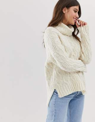 Paper Dolls cable knit roll neck jumper