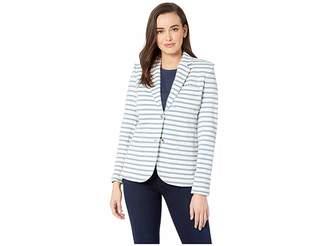 Lauren Ralph Lauren Striped Jersey Blazer