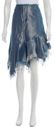 Marques Almeida Marques' Almeida Asymmetrical Metallic Skirt w/ Tags