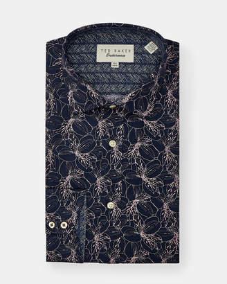Ted Baker FARMS Floral Endurance cotton shirt