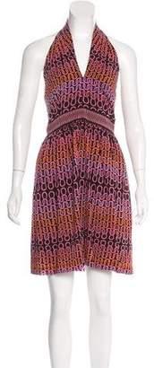 Trina Turk Printed Halter Dress