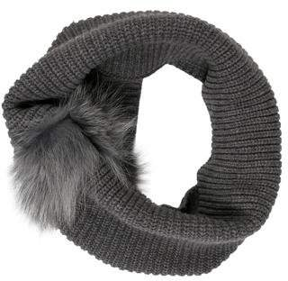 Inverni Fur-Trimmed Knit Snood