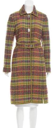 Philosophy di Alberta Ferretti Virgin Wool Plaid Coat