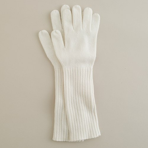 Ribbed merino gloves