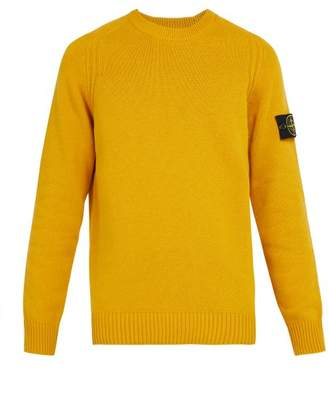 Stone Island - Crew Neck Wool Blend Sweater - Mens - Yellow