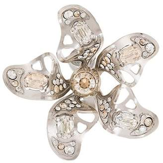 Lanvin crystal-embellished flower earring