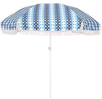 Chevron Beach Umbrella - Blue/White - ASTELLA