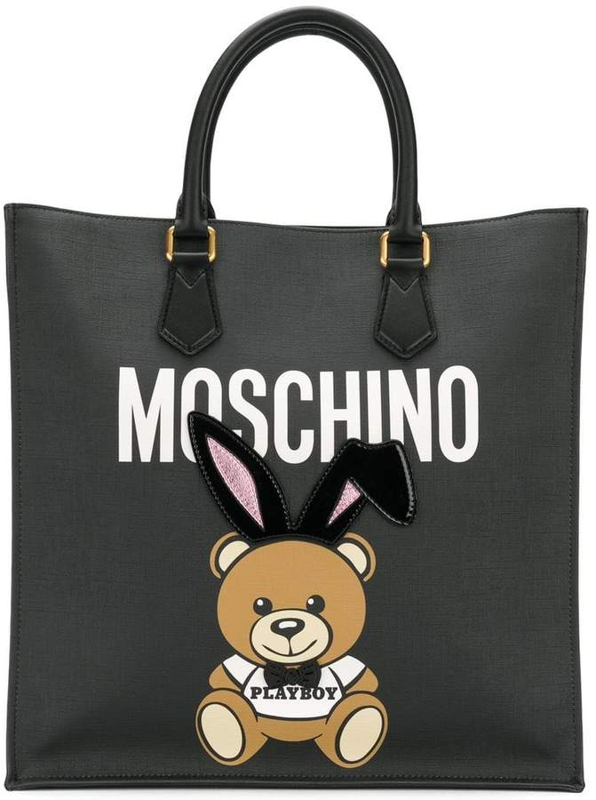 Moschino Playboy Ready to Bear tote - Black