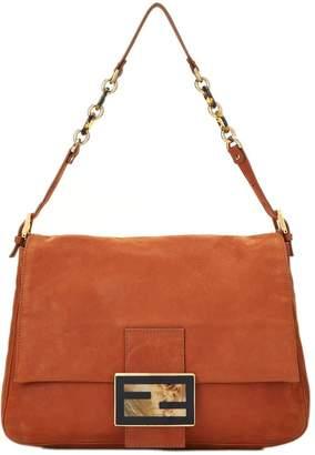 Fendi Cognac Calfskin Leather Forever Mama Large