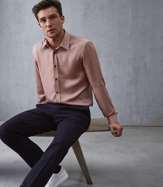 Reiss AMENDOLA LIGHTWEIGHT SLIM FIT SHIRT Dusky Pink