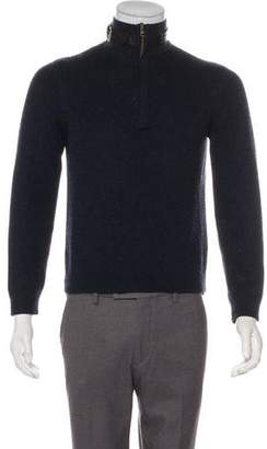 John Varvatos Wool & Silk Zip Sweater