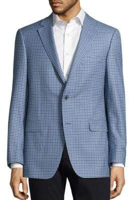 Saks Fifth Avenue COLLECTION BY SAMUELSOHN Classic-Fit Gingham Wool Sportcoat