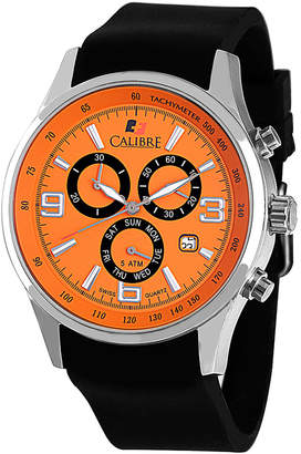 DAY Birger et Mikkelsen Calibre 42mm Men's Mauler Chronograph Watch, Orange/Black