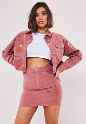 64cfed02b5 Missguided Petite Pink Co Ord Velvet A Line Mini Skirt