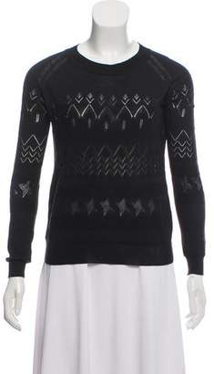 Band Of Outsiders Textured Long Sleeve Top