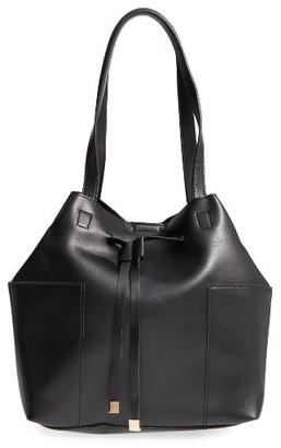 Sole Society Jocelynn Faux Leather Bucket Bag - Black $64.95 thestylecure.com