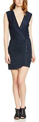 By Zoé Women's Wrap Sleeveless Dress - Blue - 8