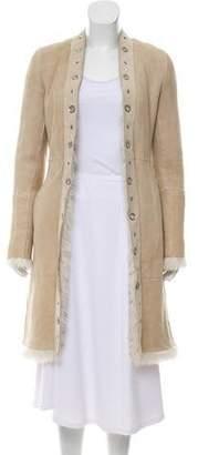 CNC Costume National Shearling Leather Coat
