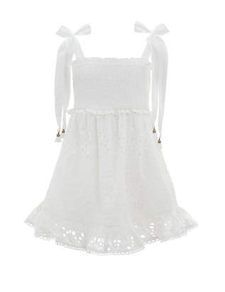 Zimmermann Bayou Shirred Short Dress
