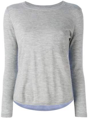 Parker Chinti & cashmere colour-block top
