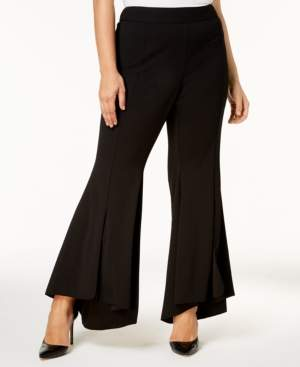 INC International Concepts I.n.c. Plus Size Flared High-Low Hem Pants, Created for Macy's