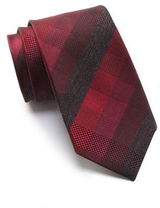 Kenneth Cole Reaction Pepper Buffalo Check Tie