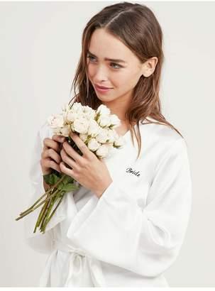 Morgan Lane Bride Langley Robe In Chalk