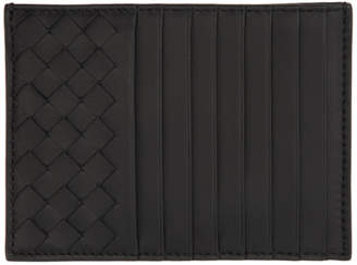 Bottega Veneta Black Intrecciato Multi Card Holder
