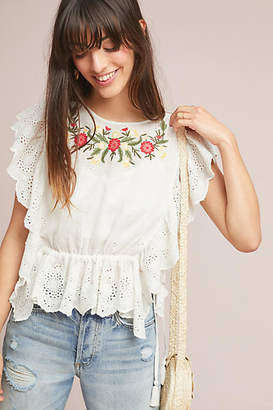 d.RA Mercato Embroidered Blouse