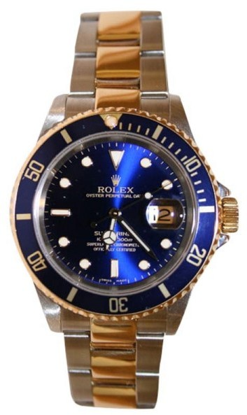 Rolex Submariner 16613 Stainless Steel and 18K Gold Blue Face Mint Perfect 2003-2006