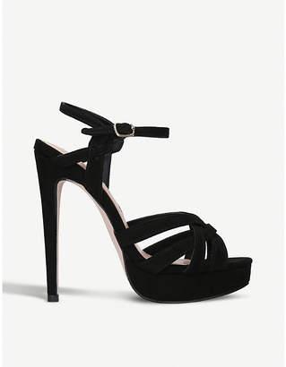 Miss KG Samia suedette platform heel sandals