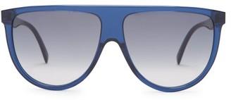 Celine Shadow D Frame Aviator Sunglasses - Womens - Navy