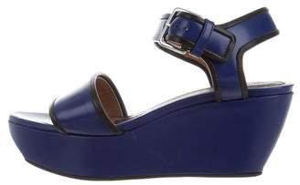 Marni Leather Platform Wedge Sandals