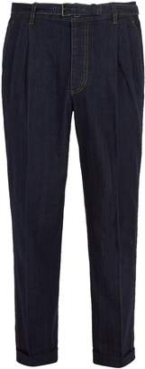 Prada Pleated belted jeans