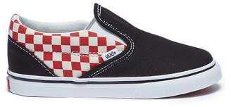 Vans 'Classic Slip-on' colourblock checkerboard toddler skates