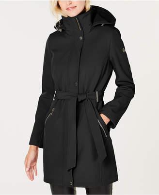 Calvin Klein Hooded Belted Raincoat