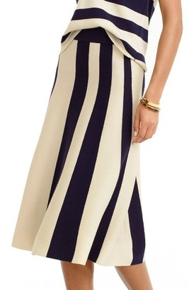 Women's J.crew Stripe Wool Knit Skirt $128 thestylecure.com