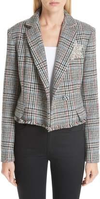 ADAM by Adam Lippes Crystal Embellished Harris Tweed Jacket