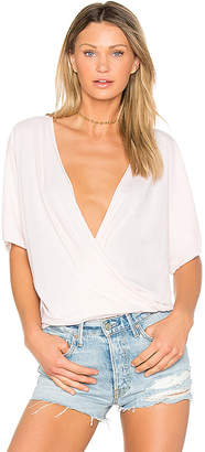 LA Made Ines Crossover Top in Pink $59 thestylecure.com