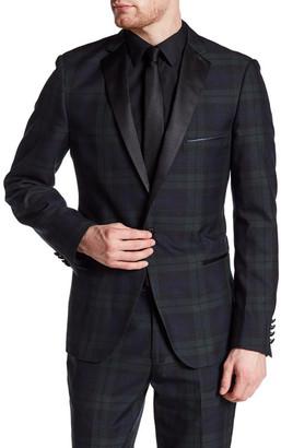 Paisley & Gray Blue Plaid Single Button Notch Lapel Slim Fit Tux Jacket $99.97 thestylecure.com