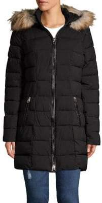Laundry by Shelli Segal Faux Fur-Trimmed Jacket