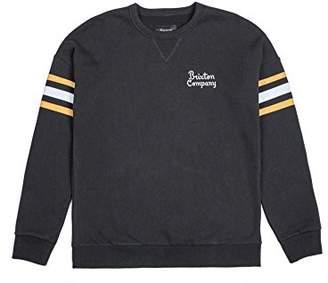 Brixton Men's Barton Standard Fit Crew Fleece Sweatshirt