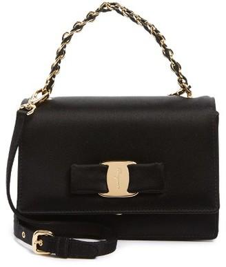 Salvatore Ferragamo Ginny - Mini Crossbody Bag - Black $950 thestylecure.com