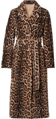 Yves Salomon Lacon Reversible Leopard-print Shearling Coat - Leopard print