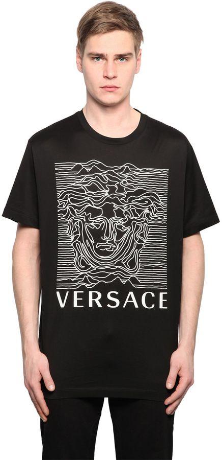 Medusa Printed Cotton Jersey T-Shirt