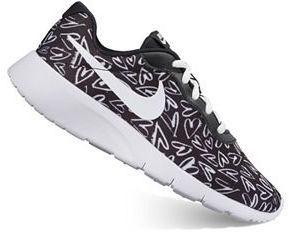 Nike Tanjun Print Grade School Girls' Athletic Shoes $65 thestylecure.com