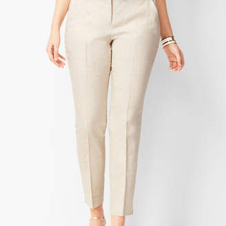 Talbots Linen Slim Ankle Pants - Curvy Fit - Solid