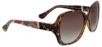 Vera Bradley Women's Gloria Polarized Oval Sunglasses