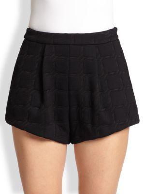 Alexander Wang Grid Jacquard Neoprene Shorts
